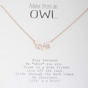 WISE ADVICE Rose Gold Necklace